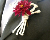 Nautical Overhand Knot Rope Corsage Lapel Knot