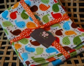 Urban Zoologie Flannel Birds Receiving or Toddler Blanket