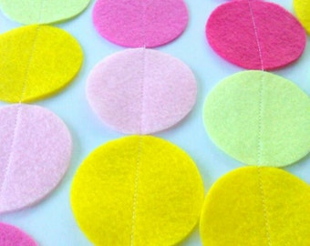 Pink Lemonade Garland, Pink & Yellow Circle Garland, Lemonade Stand, Birthday Party, Pink Yellow Wedding, Baby Shower, Room Decor