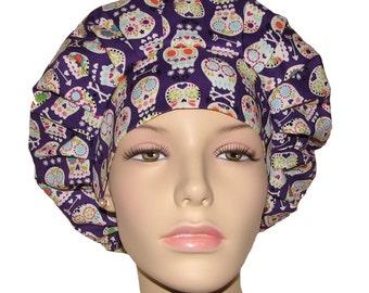 Scrub Hats - Bonehead Skulls Purple