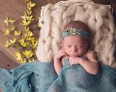 Natural Undyed Cream Mohair Bump Blanket Reversible Marshmallow Mat Newborn Photography Prop Mat Wool Knit Blanket Unisex baby boy girl