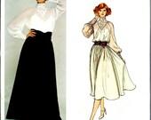 UNCUT 1970's Vogue No. 1314 by Bill Blass :  Evening Dress Long or Below Knee Length  Bust 32