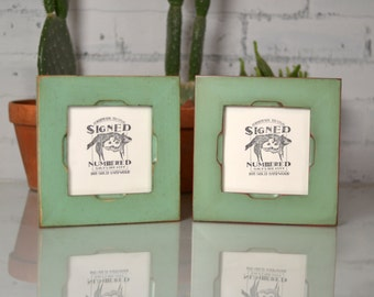 "5x5"" Square Picture Frame in Cortez Style and Finish COLOR of YOUR CHOICE - 5x5 Photo Frame Handmade"