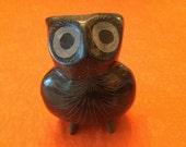 Vintage Tonala Folk Art Mexican Pottery Owl