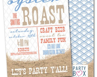 Oyster Roast Party Invitations (20 printed 5x7)