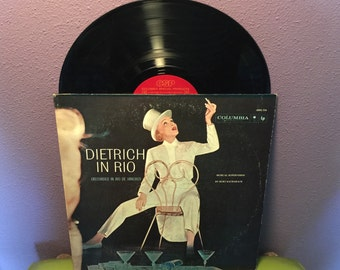 VINYL LOVE SALE Rare Vinyl Record Marlene Dietrich in Rio Lp 1959 Live Performance