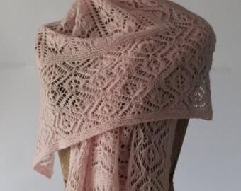 Pale Pink Pure Cashmere Stole