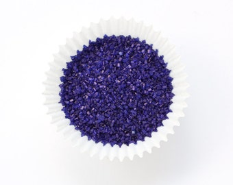 Purple Crystal Sugar, Dark Purple Sparkling Sugar, Violet Crystal Sugar for Decorating Cookies and Cakepops (4 ounces)