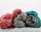 Hand-dyed Worsted Yarn, Cush DK, Beach Blanket Bingo , Made in the USA