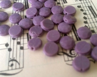 antique nail head beads 9mm light liliac purple lavender glass nailhead bead lot