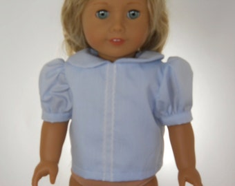 18 inch doll clothes, School Uniform, LIGHT BLUE SHIRT, 06-0304