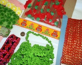 Vintage SALE Large Lot • Yards of Bright Colorful Trims