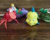 Burger King Kids Club Meal Little Mermaid Complete Set