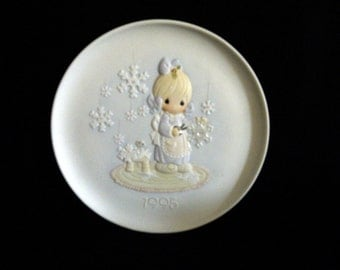 1995 Precious Memories Porcelain Collectible Plate - He Covers the Earth with His Beauty