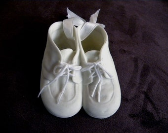 Porcelain Tie up Beige  Baby Shoes for Baby's First Birthday