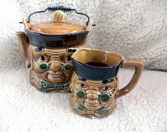 Unique Tea Coffee Pot with Cup - Quaker Oats - 1980's