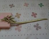 5pcs Antique Bronze Patterned Hair Stick Metal Hair Stick Curved Hair Stick Christmas Gift