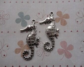20pcs 60mmx26mm sea horse/hippocampi Antique Silver Retro Pendant Charm For Jewelry Pendant