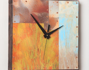 10 inch Copper and Metal Clock