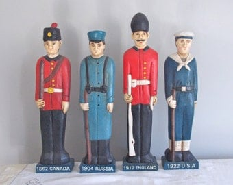 Armed Forces Wooden Men for Forth of July You Pick One or Have all for 60.00