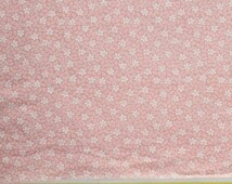 """3/4yard x 33"""" wide Vintage 40's  Cotton Fabric - Soft Pink with Small White Flowers"""