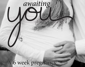 Awaiting You: 6-week pregnancy journaling course and kit, pistachio green