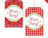 Country Western Party - Personalized DIY printable favor tags