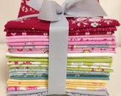 "Hearts and Happy Flowers Fat Quarter Bundle - ""Price Reduction"""
