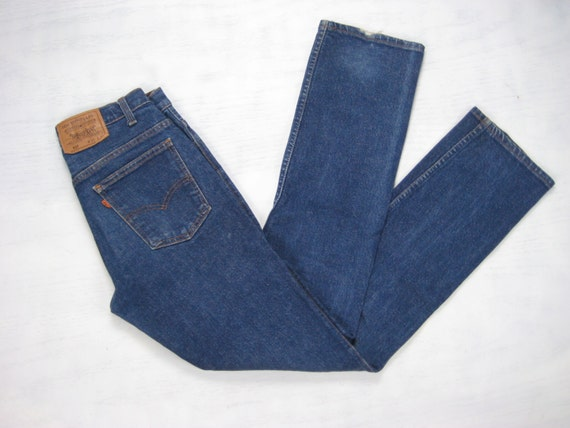 Levis 517 stretch denim vintage mens made in usa orange tab for Levis vintage denim shirt 1950 sawtooth slim fit