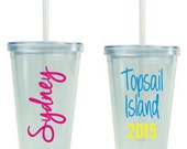 9 Name & Title Decals for DIY Tumbler kit * Great for Weddings Parties GNO * Vinyl Letters and Polka Dots * DIY Project * Vacations *