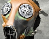 Industrial Gas Mask w Machined Hardware, Camouflage Silicone - MS051ANSC