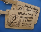 Set of 2 Leather Luggage Tags Celebrating 50 years of Grateful Dead - Grateful Dead, Jerry Garcia. Great Christmas Gift or Stocking Stuffer