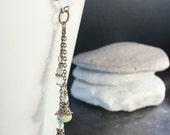 Light-Green Czech Glass Bead Necklace - C.381