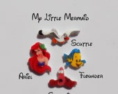 My Little Mermaid Origami Inspired Charms