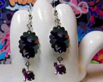 Maleficent Scalloped Dangle Earrings
