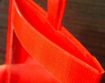 ID Card Holder Wallet Neon Orange Duct Tape Water Resistant Handmade