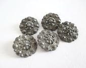 5 Pierced Metal Buttons Depose Paris