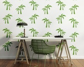 Palm Tree Wall Decal, Retro Wall Decal, Tree Wall Decal, Tropical Decor, Beach Wall Art, Modern Wall Decor, Hawaiian Wall Decor, Dorm Decor