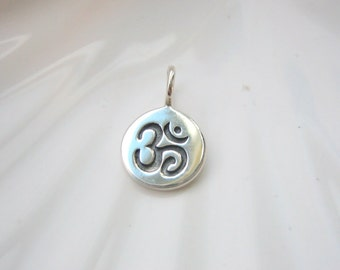 Sterling Silver Om Charm - Add On - Yoga Inspired - Ohm Aum