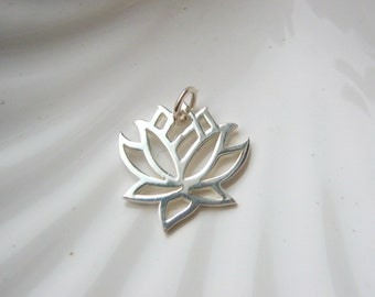 Sterling Silver Lotus Charm - Add On - Yoga Inspired