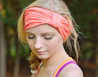 Knit Turban Headband Bright Pink Ladies Turban Extra Wide Head Cover No Slip Turban Head Scarf Hair Wrap Pink (#1512) S L X