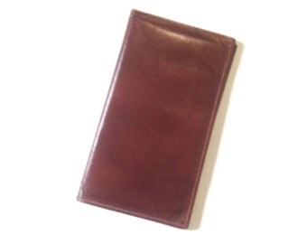 Vintage Mens wallet, checkbook Bi-fold, Walton, Leather cowhide