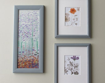 Botanicals wall art - In Bloom - home decor - a 3 piece wall collage