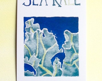 Three Sea Kale Postcards, gardening quotation on back, 4 in x 6 in, silky smooth card stock, gardener gift