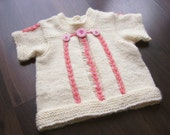 Hand Knitted Baby Top Baby Sweater Hand knit Baby Cardigan Jacket READY TO SHIP- 6 -12 Months