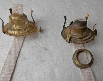 """vintage Miller burner co """"Venus"""" solid brass lamp burners #2 size"""