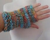 RESERVED FOR KNOTCROCHET handspun handknit merino mittens warm next to skin soft