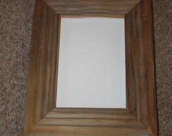 Reclaimed Wood Picture Frame - 5 x 7  - Vintage Telegraph Pole Cross Bar - Barnwood