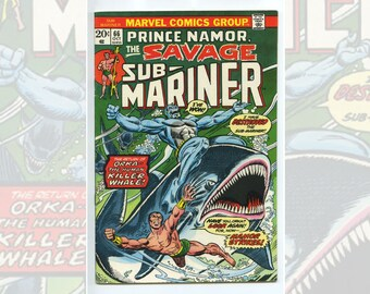 Marvel Comics Sub-Mariner #66 Oct 1973