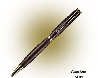 Wooden Ball Point Twist Pen - Hand Turned - wood lathe